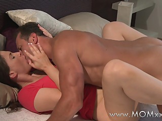 Mom xxx: husband and wife make love in the morning hd couple brunette video