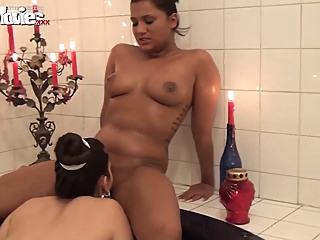 German Lesbian Amateurs in the Bathtub amateur lesbian orgasm video