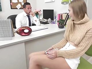 Taking Care of Business to get her Promotion pov hd blonde video