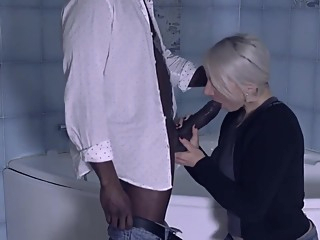 Julie French is turning her fantasies into reality with a very handsome, black guy she likes hd blonde interracial video