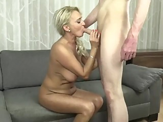 Hot wonderful MILF with younger guy mature   video