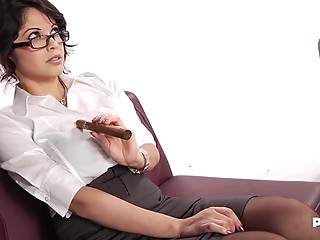 Evie Delatosso is a smoking hot secretary who would always choose sex over doing her job big tits hd brunette video
