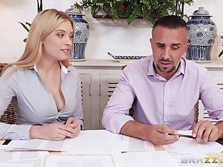 Giselle Palmer is having casual sex at work and screaming from pleasure during an orgasm pov hd blonde video