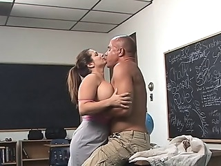 Large Titted Teacher big tits straight  video