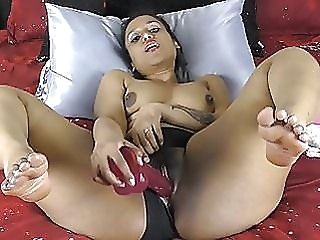 Indian With Big Ass And Thighs Pounding Pussy With Dildos amateur indian hd videos video