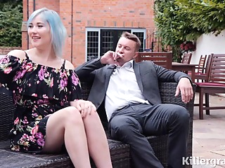 Misha Mayfair is sucking her married lovers dick and getting doublefucked in her huge garden anal double penetration hairy video