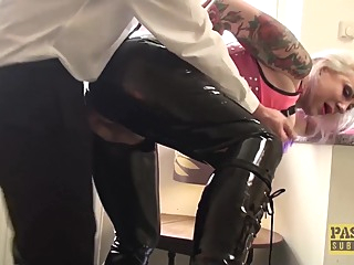 PASCALSSUBSLUTS - Mature Seductress Eve Adler Dominated bdsm big ass big cock video