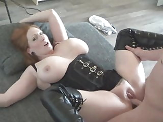 big boobed redhaired milf fucked in high leather boots amateur blowjob redhead video