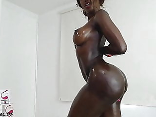 Black Colombian Girl Big Tits And Big Ass Dildoing Ass webcam hd videos colombian video