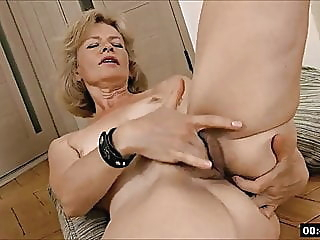 Lustful deaf-mute Russian grandma Diana... 1 blonde fingering hairy video