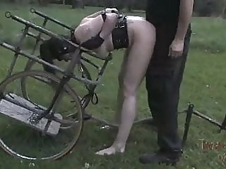 Pony Girl Drinks Piss And Gets Fucked In Harness bdsm old & young bondage video