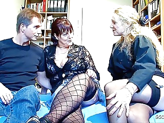 German Mature Seduced Real old Couple to Threesome Casting blowjob hardcore mature video