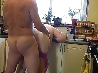 Kitchen sex mature creampie british video
