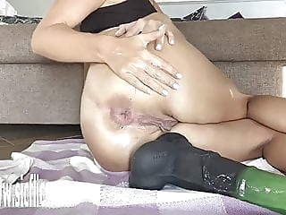 Buried Horse Dick Balls Deep in Her Ass amateur anal sex toy video