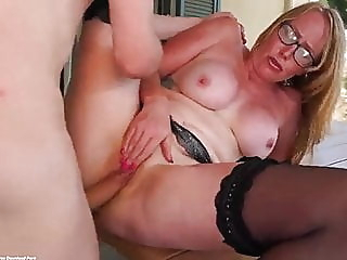 Anal sex with mom on her holiday mature milf mother video