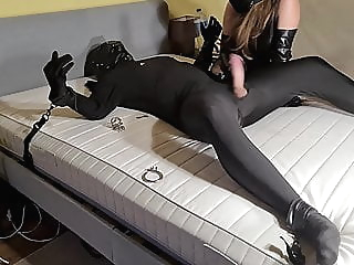 Chastity Slave Fucked, Teased & Humiliated By Leather Mistress amateur hardcore bdsm video