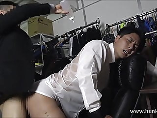 Japanese Office Sex 2 asian (gay) blowjob (gay) muscle (gay) video