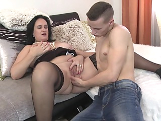 Horny Busty Milf Fuck Her Sons Friend amateur big tits brunette video