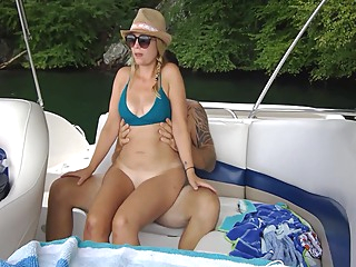 Hot Sex On Our Boat. Almost Caught amateur brunette hd video
