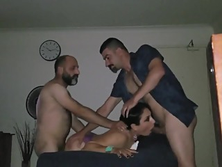 Iraqi Slutwife Lina Threesome With Hubby & Lucky Friend amateur arab cuckold video