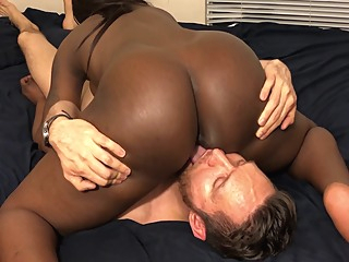 Black Teen Step Sister Sits On My Face Rides My Cock With Ass Cumshot amateur big cock brunette video