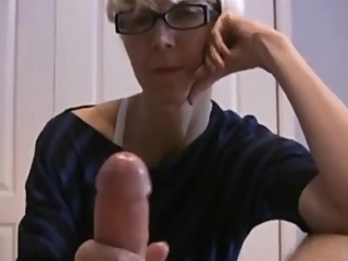 Hot Mature Mom Giving A Slow Handjob To Her Hubby Till Cum amateur big cock blonde video