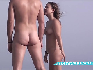 Close-up Twat Nudist Voyeur Beach Amateur amateur beach brunette video