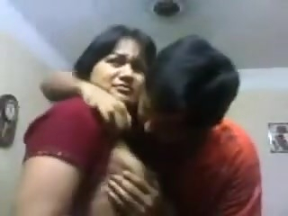 Indian Bhabi n Devar At Home Giving A Kiss & titties engulf indian   video