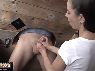 Cock To Suck In Public Toilet amateur brunette femdom video