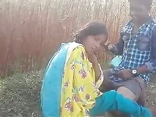Indian Desi lovers have outdoor sex in the jungle indian fucking indians video