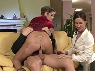 Coulpe of stunners doggystyle masturbation stockings video