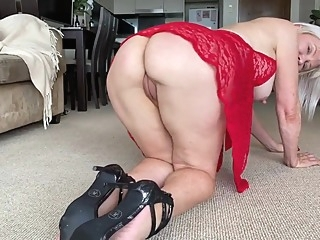 Sexy milf gilf lingerie big tits blonde granny video