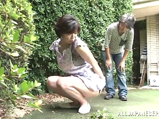 Japanese AV Model is a horny maid enjoying a hard fucking asian blowjob cumshot video