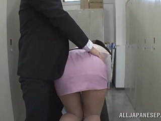 Hana Haruna is a lovely Asian babe deep throating cock asian big tits blowjob video