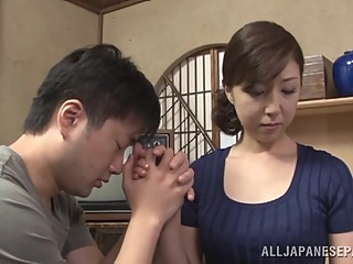 Hot mature Asian housewife enjoys getting position 69 asian blowjob facial video