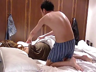 Hotel room sex with Asian girl amateur asian brunette video