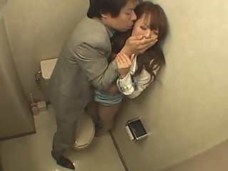 Japanese Woman Fucked in the Bathroom asian big tits blowjob video