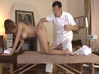 Beautiful wife was seduced with a massage amateur asian japanese video