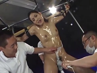 6'0 tall Mayu continuous orgasm asian bdsm fetish video
