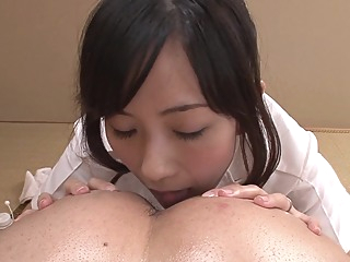 Uncensored JAV wife Manami Komukai CFNM rimjob massage in HD hd japanese jav uncensored video