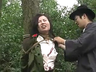 Chinese army girl tied to tree 1 asian bdsm chinese video
