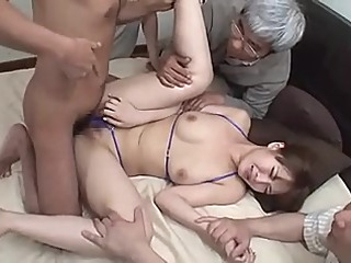 Japanese Sexy Wife Must Strip and Fuck Neighbors asian gangbang japanese video