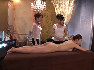 Japanese Lesbian massage a trois asian hd japanese video