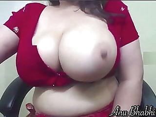 Indian wife in red saree milking her tits on cam webcam amateur indian video