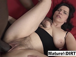 Mature With Natural Tits Gets A Creampie In Her Hairy Pussy cumshot hardcore mature video