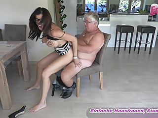 German big tits milf with glasses fuck ugly old guy amateur big tits cumshot video