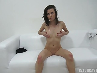 Czech Shy Teen Jitka First Porn Casting brunette casting czech video