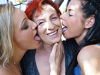 Three Old And Young Lesbians Making Fun On Their Bed - MatureNL cunnilingus dutch european video