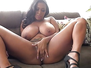 Busty Colombian beauty masturbates on the sofa and cums babe fingering hd videos video
