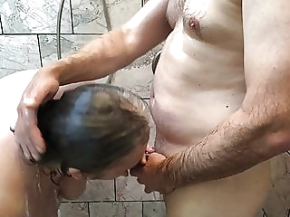 Amateur BBW Couple Has Playful Shower - Mature Granny TnD bbw mature shower video